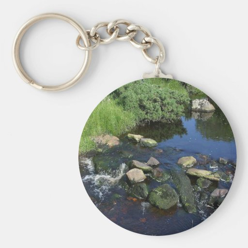 Red Water In A Stream Near Malin More Basic Round Button Keychain