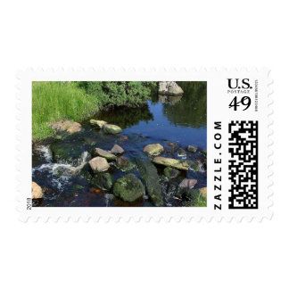 Red Water In A Stream Near Malin More Postage Stamp