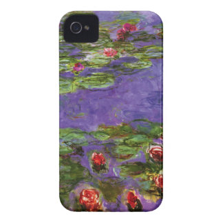 Red Water Lilies iPhone 4 Cover