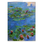 Red Water Lilies, Claude Monet Cards