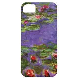 Red Water Lilies Claude Monet Fine Art iPhone SE/5/5s Case