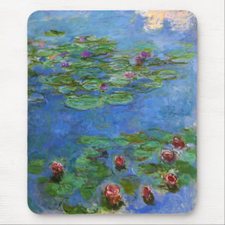 Red Water Lilies, Claude Monet Mouse Pad