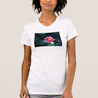 Red Water Lily Tee Shirt