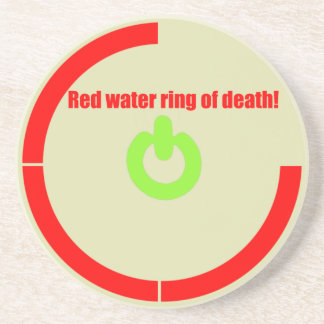 Red water ring of Death! Drink Coaster