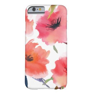 Red Watercolor Poppies Floral Pattern Barely There iPhone 6 Case