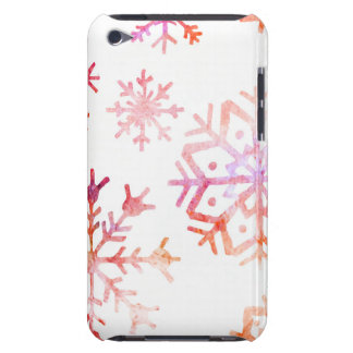 Red Watercolor Snowflakes iPod Touch Case