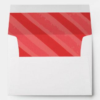 Red Watercolor Stripe Custom Address Envelopes