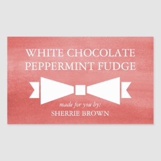 Red Watercolor Wash Holiday Gift Label