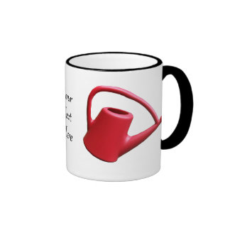 Red Watering Can Personalized Ringer Coffee Mug
