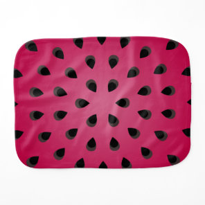 Red watermelon chunk with seeds burp cloth