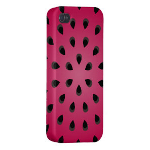 Red watermelon chunk with seeds cases for iPhone 4