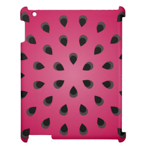 Red watermelon chunk with seeds cover for the iPad 2 3 4