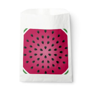 Red watermelon chunk with seeds favor bag