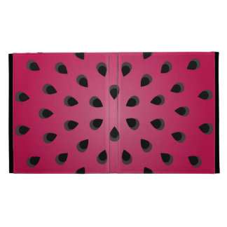 Red watermelon chunk with seeds iPad folio case