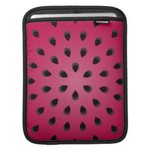 Red watermelon chunk with seeds iPad sleeve