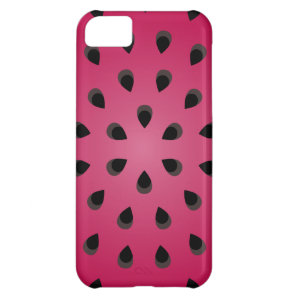Red watermelon chunk with seeds iPhone 5C case