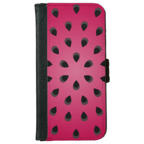 Red watermelon chunk with seeds iPhone 6/6s wallet case