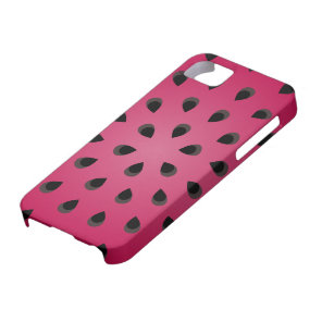 Red watermelon chunk with seeds iPhone SE/5/5s case