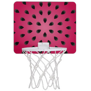Red watermelon chunk with seeds mini basketball backboard