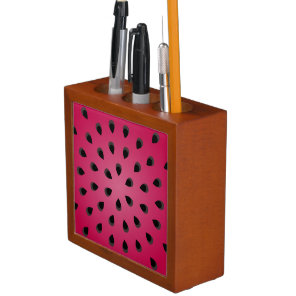 Red watermelon chunk with seeds pencil holder