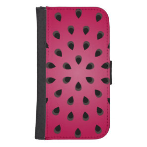 Red watermelon chunk with seeds phone wallet
