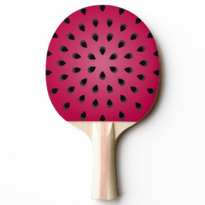 Red watermelon chunk with seeds Ping-Pong paddle