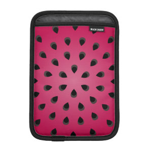 Red watermelon chunk with seeds sleeve for iPad mini