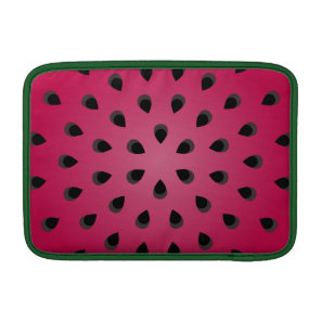 Red watermelon chunk with seeds sleeve for MacBook air
