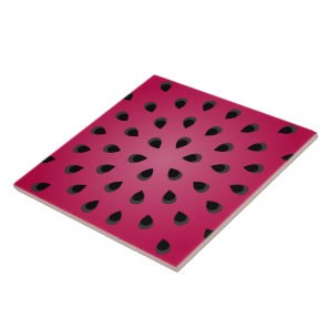 Red watermelon chunk with seeds tile