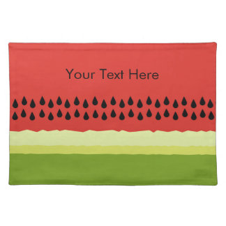 Red Watermelon Slice Cloth Placemat