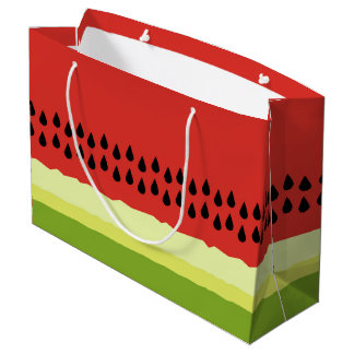 Red Watermelon Slice Gift Bag