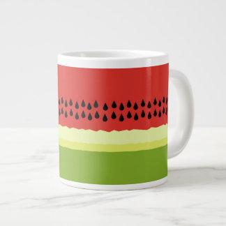 Red Watermelon Slice Jumbo Mug 20 Oz Large Ceramic Coffee Mug
