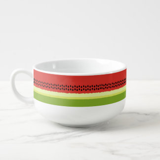 Red Watermelon Slice Soup Mug
