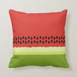 Red Watermelon Slice Throw Pillow
