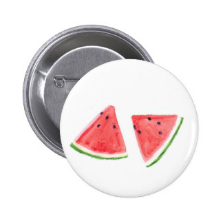 Red Watermelons fruit painting Pinback Button