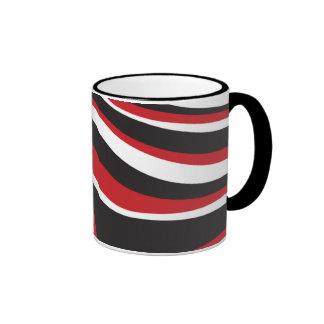 Red Wave Ringer Mug