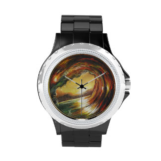 Red Wave Wristwatches