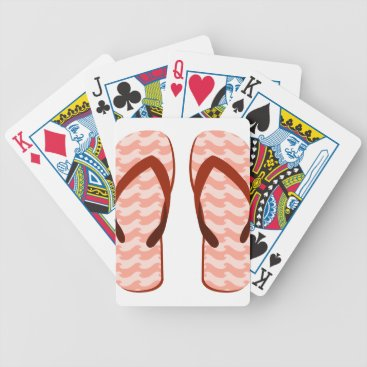 Red Waves Flip Flops Bicycle Playing Cards