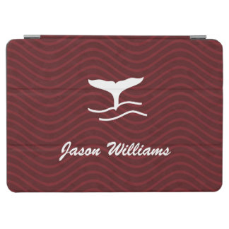 Red Waves Pattern Whale Tail iPad Air Cover