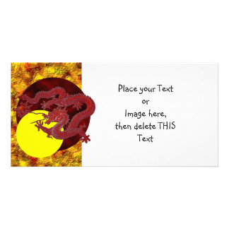 Red Wax Dragon Card