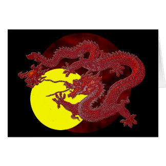 Red Wax Dragon Card