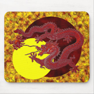 Red Wax Dragon Mouse Pad