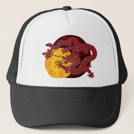 Red Wax Dragon Trucker Hat