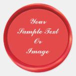 Red Wax Seal Classic Round Sticker