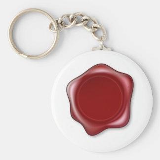 Red Wax Seal Key Chain