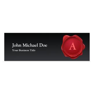 Red Wax Seal Monogram Profile Card