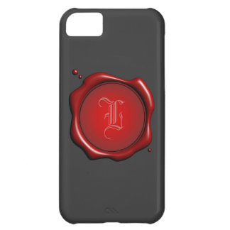 Red Wax Seal with Monogram iPhone 5 Cover Template