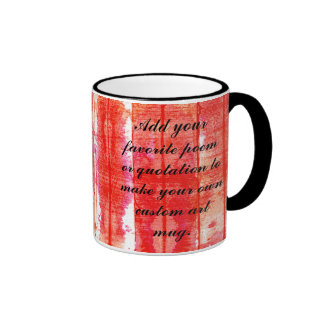 Red Weathered Looking Watercolor Background Mugs