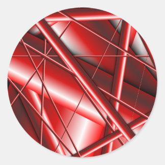 red web round stickers