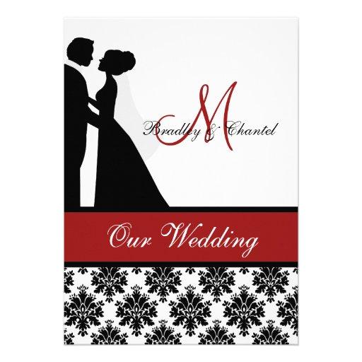 Red Wedding Couple Wedding Invitation 5 X 7 Invitation Card